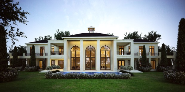 French style residential house architect firm in cape for Residential architecture styles